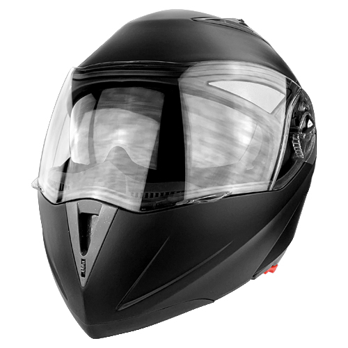 Full Face Modular Motorcycle Helmet With Dual Visor DOT Approved Matte Black
