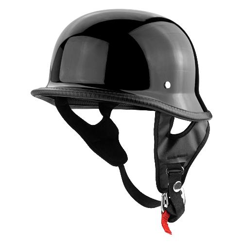 Helmet Motorcycle Shiny Black Finish DOT Approved Motorcycle Helmet