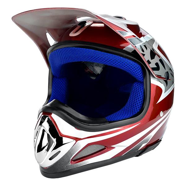 Off Road Motocross Motorcycle Helmet Gloss Red